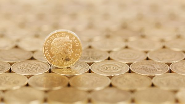 Make a donation image of pound coins